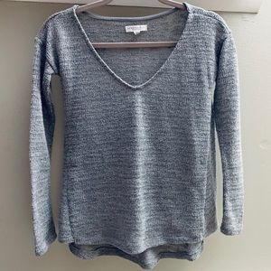 "Gray V-Neck ""Shimmer"" Sweater by Aeropostale"